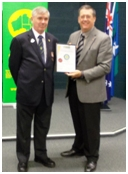 2012 AIES National Medal for Excellence Awarded to Deputy Commissioner Ian Stewart APM, Queensland Police Service
