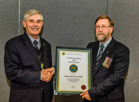 2015 AIES National Medal for Excellence Awarded to Mr Robert Maul LFAIES, JP